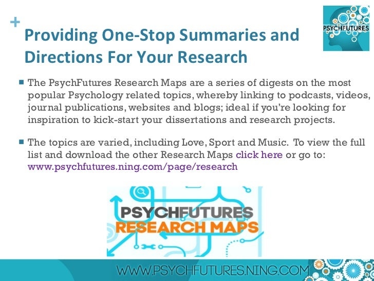 Topics For Psychology Research Paper