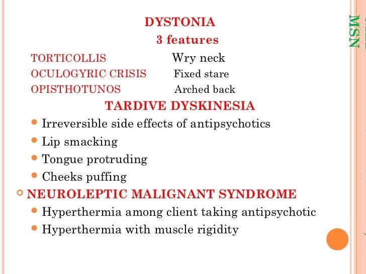 haldol dystonia