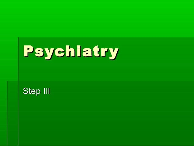 Psychiatry ppt