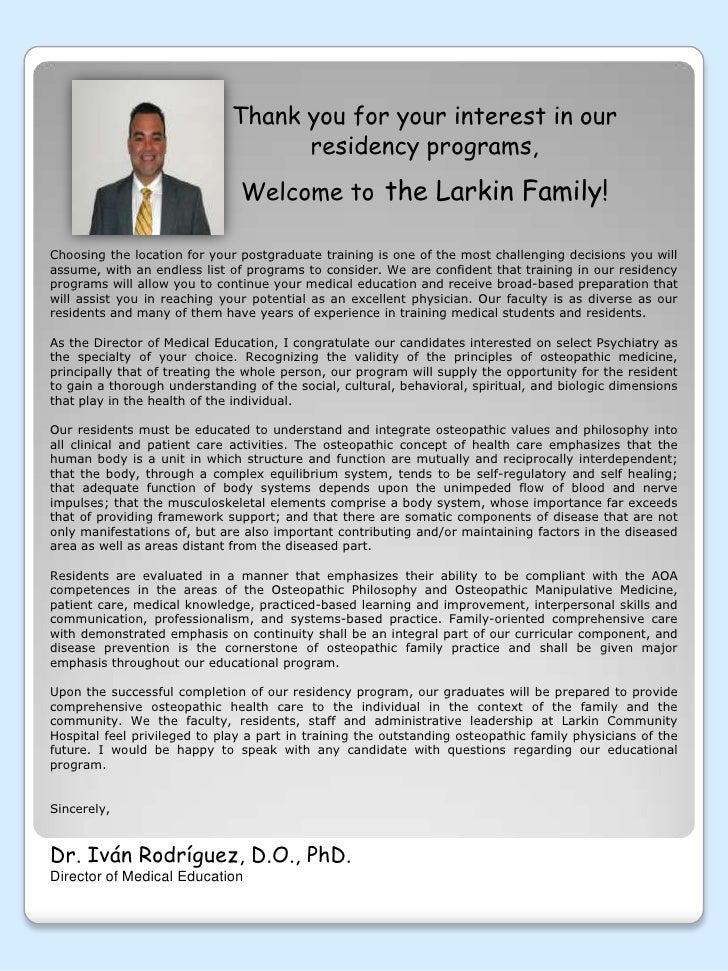 psychiatry residency presentation