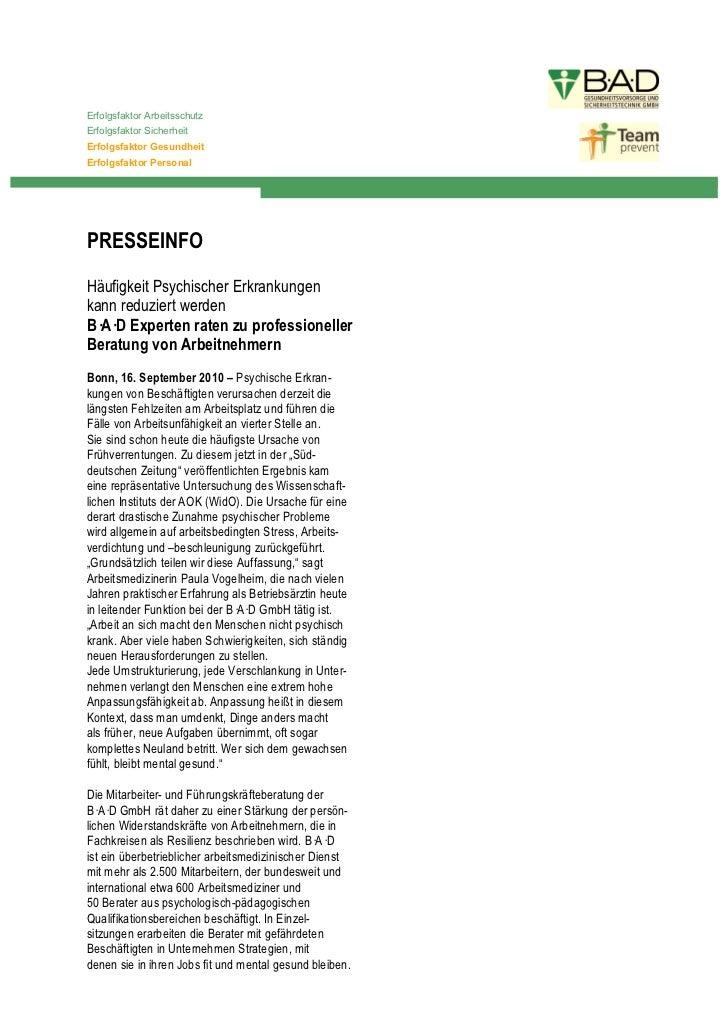 Erfolgsfaktor ArbeitsschutzErfolgsfaktor SicherheitErfolgsfaktor GesundheitErfolgsfaktor PersonalPRESSEINFOHäufigkeit Psyc...