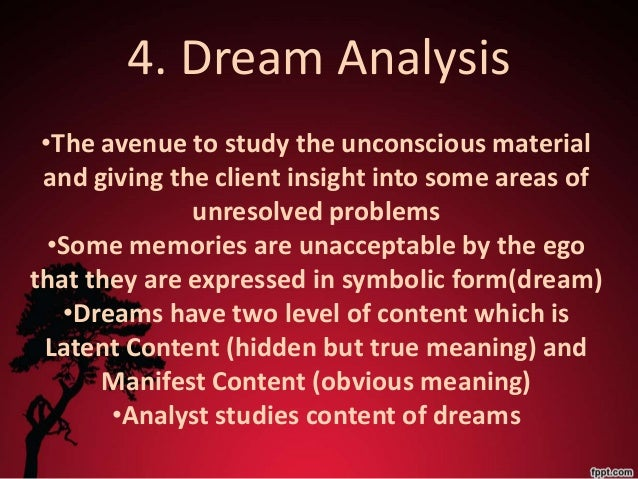 an analysis of dreams and freudian theory Dream interpretation - freudian theory  freud had a penchant for reductive analysis and provided two authentic  one theory of teeth dreams is that.