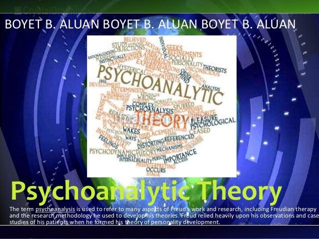 Psychoanalytic theory sigmundfreUd