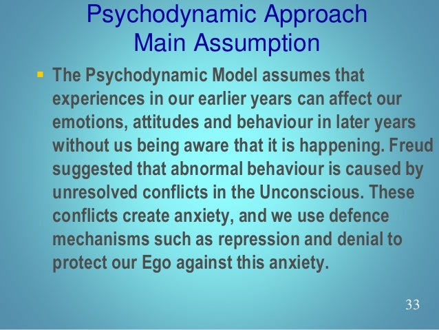 differences of the psychodynamic and behavioural approaches Psychodynamic theories offer fertile ground for investigating the  the cognitive  perspective suggests that there is no difference between the.