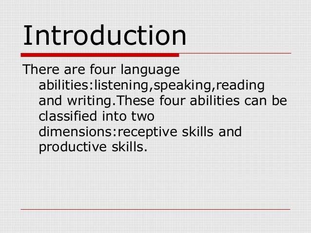 receptive and productive skills celta