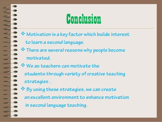thesis on motivation in second language learning