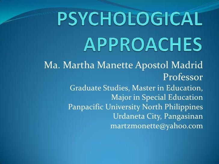Ma. Martha Manette Apostol Madrid                        Professor     Graduate Studies, Master in Education,             ...
