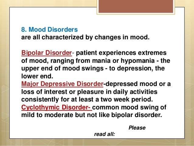 Complete Psychological Disorders List