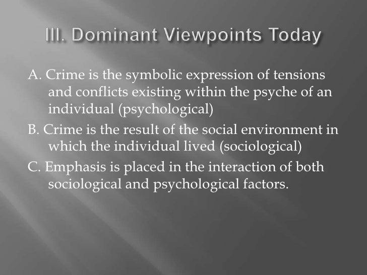 criminal behavior essay Abstract this essay covers some of the most important aspects of criminal behavior theories and delves into the lesser, supporting theories pertaining the assignment.