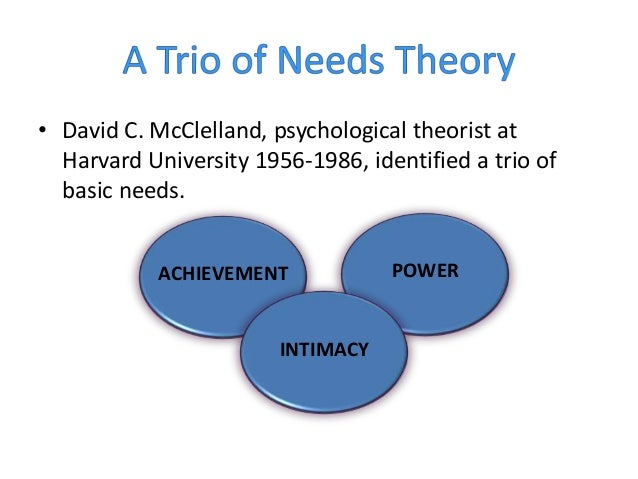 murray s theory of psychogenic needs Time trends in murray's psychogenic needs over three (s) guaranteed for 5 to test for birth cohort changes in psychogenic needs according to murray's theory.