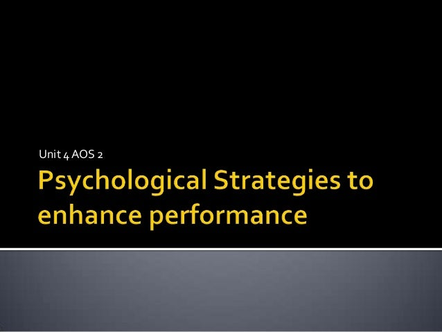 Psychological performance enhancement (1)