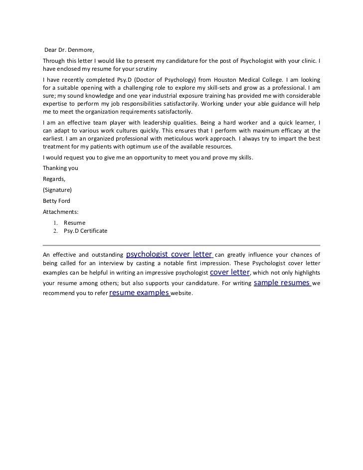 Child psychologist sample resume