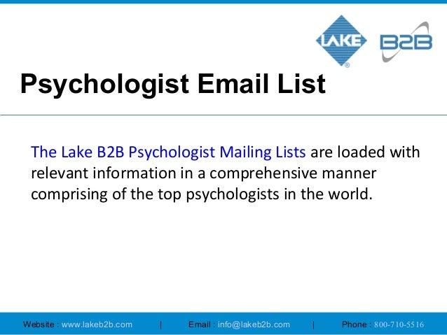 List of psychologist