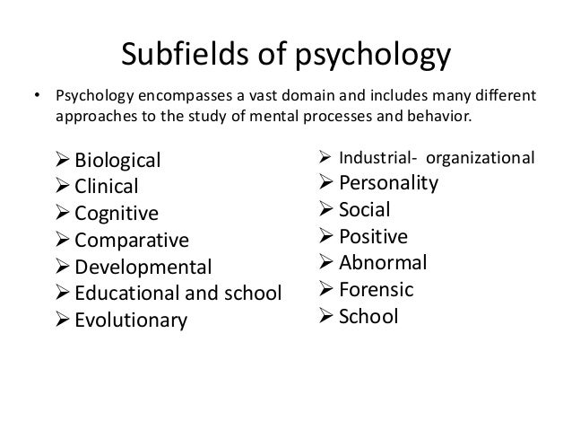 the biological domain personality psychology As personality psychologists use the term, biological approaches typically refers to three areas of research within this general domain: genetics, psychophysiology, and evolution the first area of research consists of the genetics of personalit .