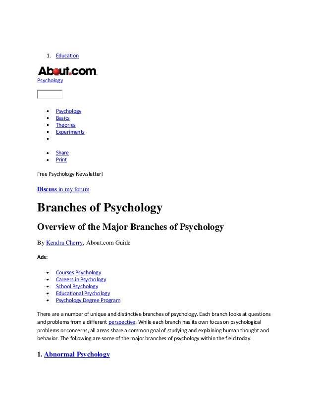 1. EducationPsychologyPsychologyBasicsTheoriesExperimentsSharePrintFree Psychology Newsletter!Discuss in my forumBranches ...