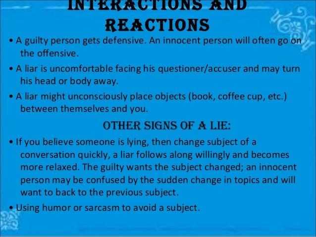 psychology body language signs of lying pdf