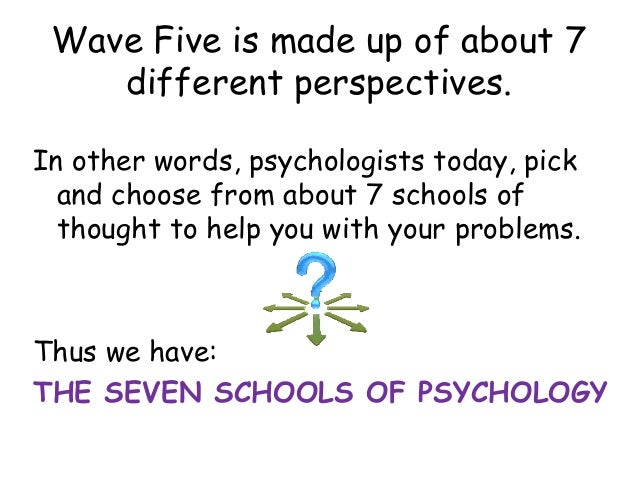 psychology different schools of thoughts Start studying psychology schools of thought learn vocabulary, terms, and more with flashcards, games, and other study tools.