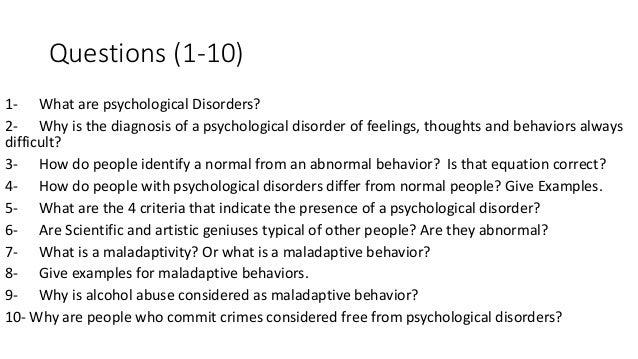 Short essay questions psychology