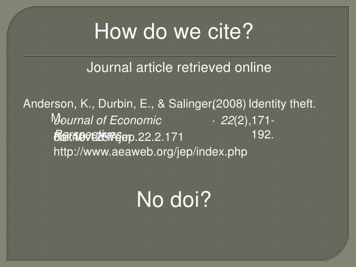 Online periodical apa