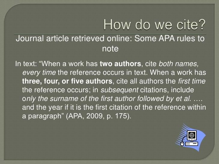 Apa online journal