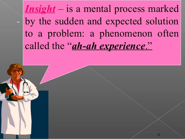 an analysis of insight learning in psychology This type of learning is known as insight, the sudden understanding of a solution  to a  a recent meta-analysis by anderson and bushman (2001) reviewed 35.