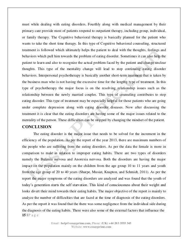 eating disorder essay