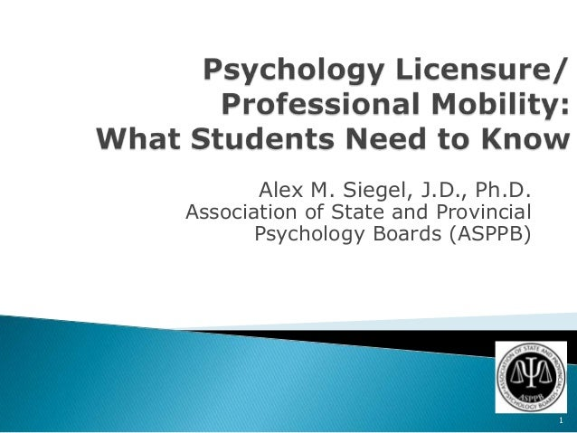 Psychology license & professional mobility