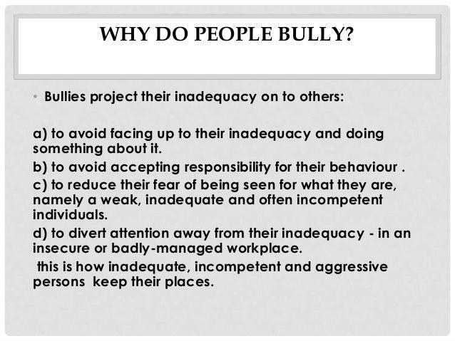 handling adult bullying