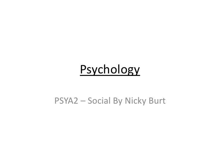 PSYA2 - Social