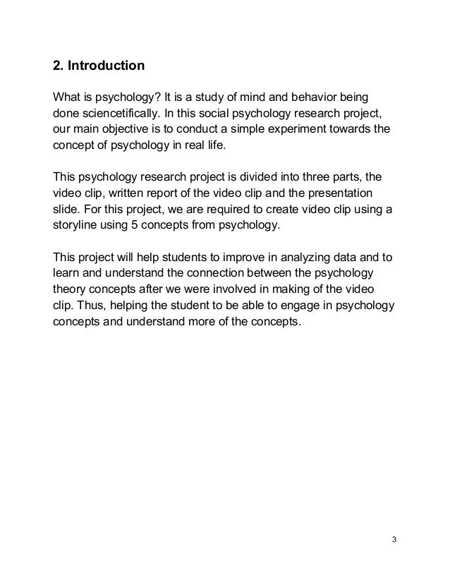 Introduction to psychology assignments