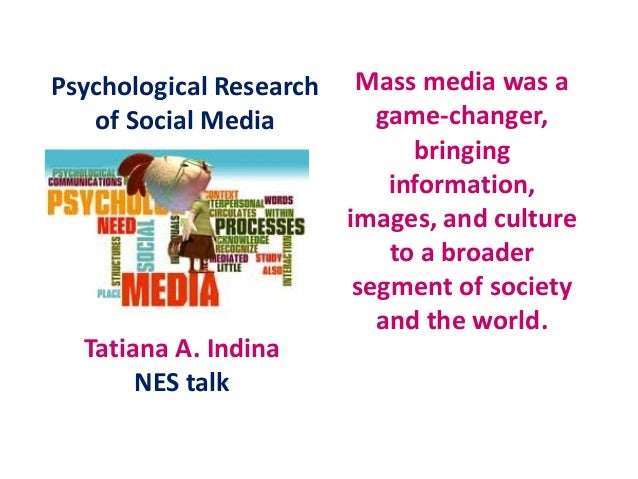 Mass media was agame-changer,bringinginformation,images, and cultureto a broadersegment of societyand the world.Tatiana A....