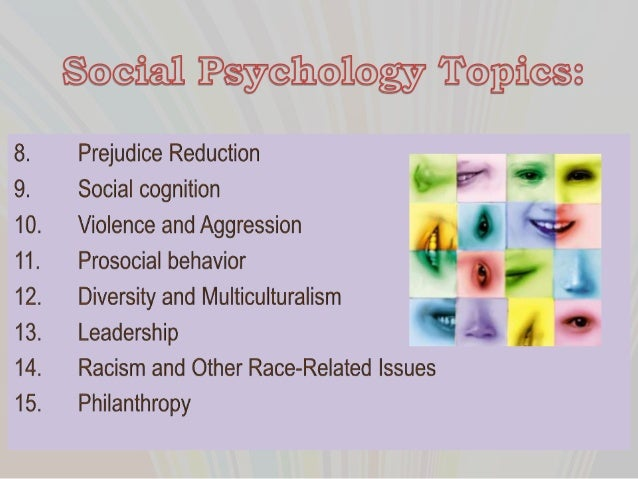Social psychology term paper ideas