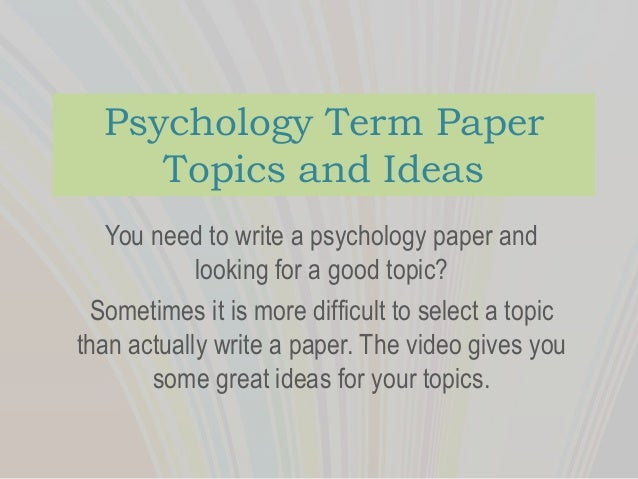I need term paper topics.?