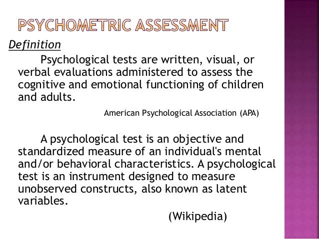 psychometrics versus standardized tests The term of the day is psychometrics process of your favorite standardized why the nonverbal versus verbal distinction was not as pronounced.