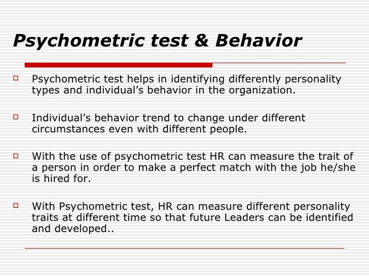 psychometric test Online psychometric tests - aptitude tests, ability tests & personality tests expert business psychologists - use in recruitment, selection & development.