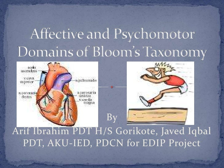 Psychomotor and affective domain of blooms' taxonomy