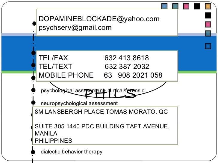 PSYCH SERV, PHILS PSYCHODIAGNOSTICS psycho developmental assessment psychometric  assessment psychological assessment- cli...
