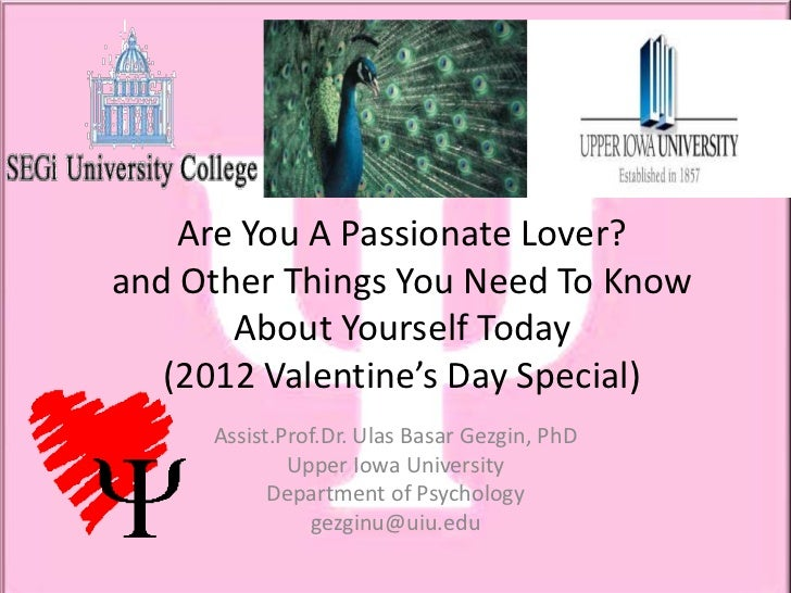 Psychology of Love, 2012 Valentine's Day Special
