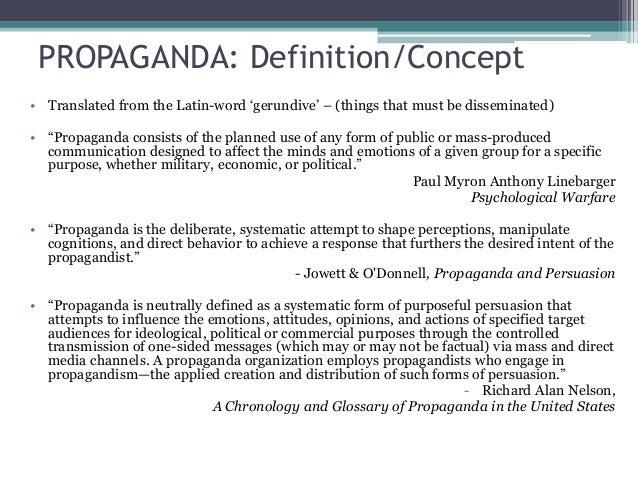 propaganda and psychological warfare pdf