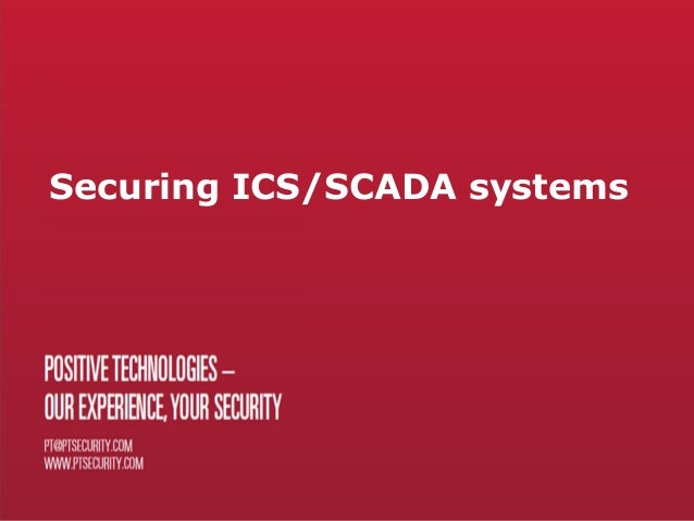 Securing ICS/SCADA systems