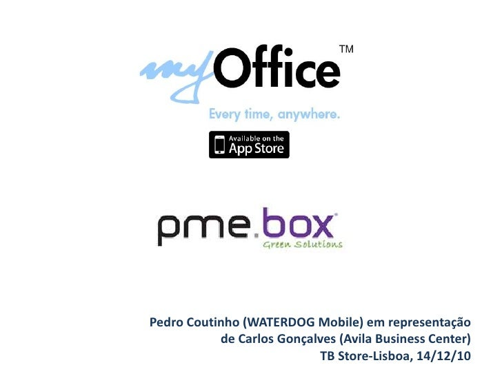 Pedro Coutinho (WATERDOG Mobile) em representação <br />de Carlos Gonçalves (Avila Business Center)<br />TB Store-Lisboa, ...