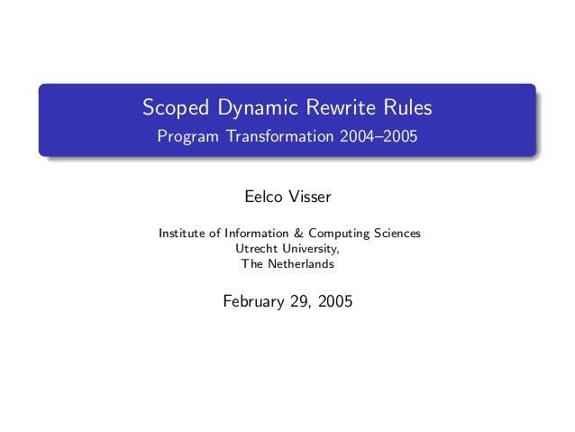 Scoped Dynamic Rewrite Rules Prog