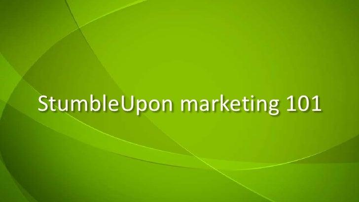 StumbleUpon marketing 101<br />