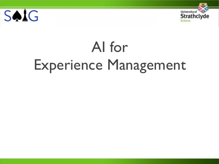 AI forExperience Management