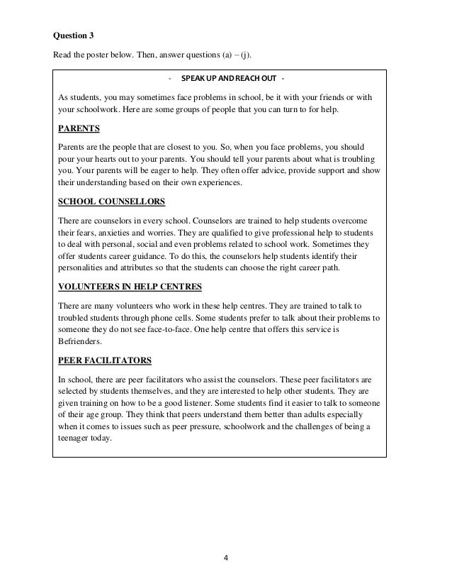 Superbe Model Essay English Pt English Modelanswer Malaysians