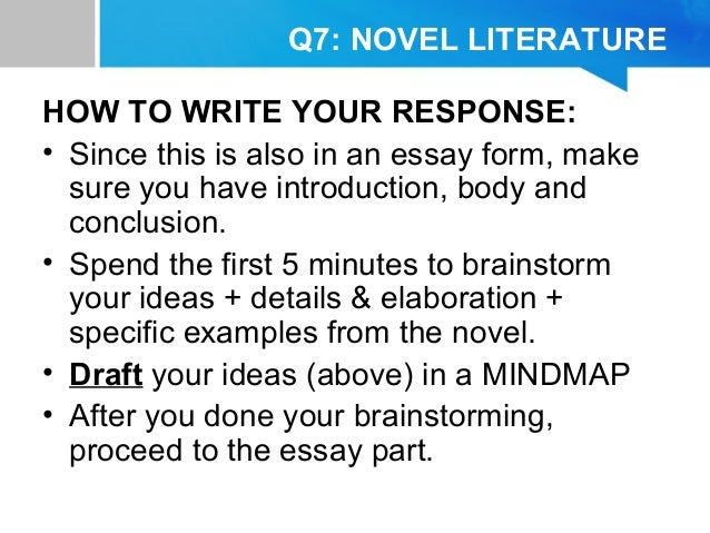 How to write a novel in english