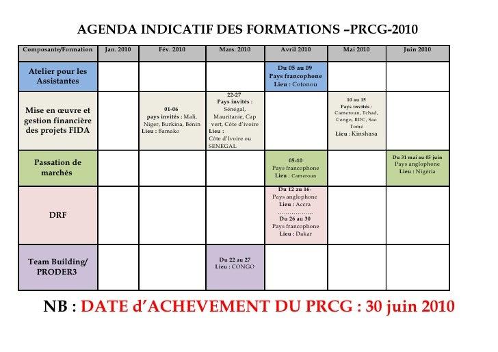 PRCG - Planning de formations 2010 - francais