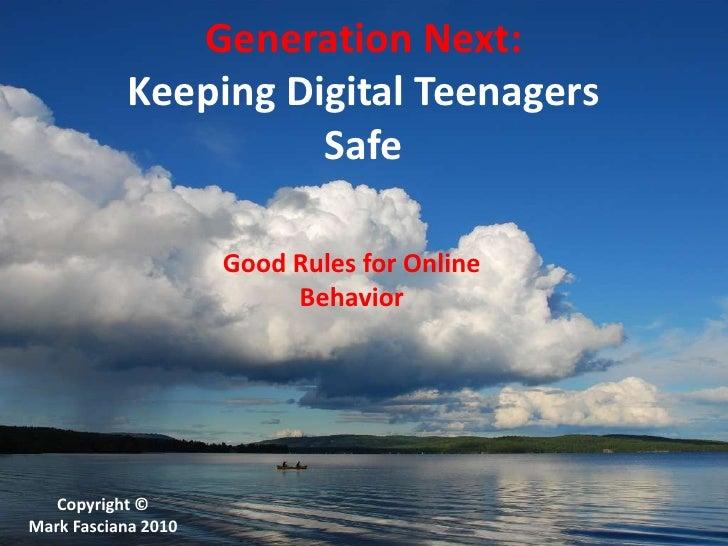 Generation Next- Keeping Kids Safe Online