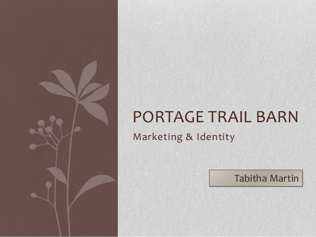 Samples of work for Portage Trail Barn