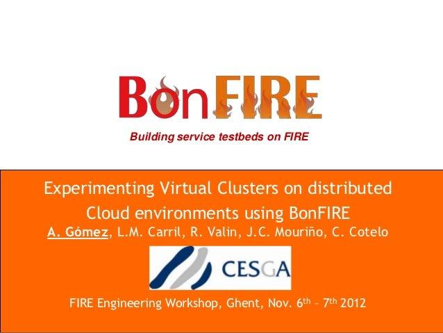 VCOC BonFIRE presentation at FIRE Engineering Workshop 2012